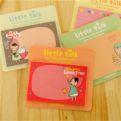 4 PCs cute kawaii Sticky Note Memo Pad fournitures scolaires Planner Stickers