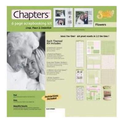 NEW Scrapbook Wizard - Chapters Page Kit 12In.X12in. Flowers