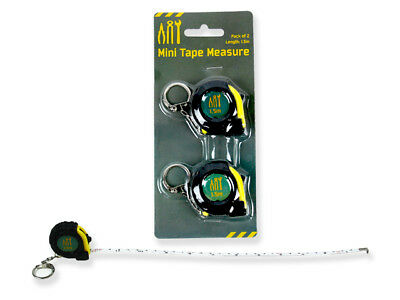 2pk 1.5m Mini Ruler Tape Measure Retractable Sewing Cloth Dieting Tailor Tapelin