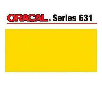 NEW Oracal 631 Matte Adhesive Vinyl 12In. X24in.  Sheet - Yellow