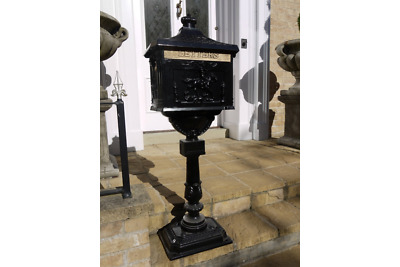 The Mulberry Bush Black Free Standing Ornate Traditional Metal Mailing Post Box