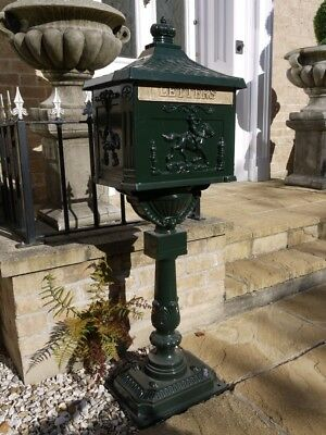 The Mulberry Bush Green Free Standing Ornate Traditional Metal Mailing Post Box