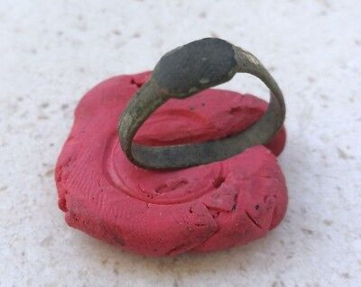 Roman Legion Empire General Antiques Bronze Ring!! 100Ad Legion
