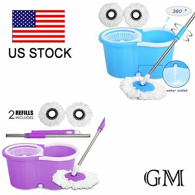 Easy Cleaning Magic Rotating Head 360° Microfiber Spining Floor Mop Bucket Set