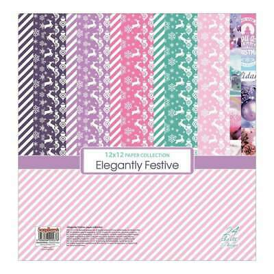 NEW ScrapBerrys Elegantly Festive Paper Collection 12 inch x12 inch