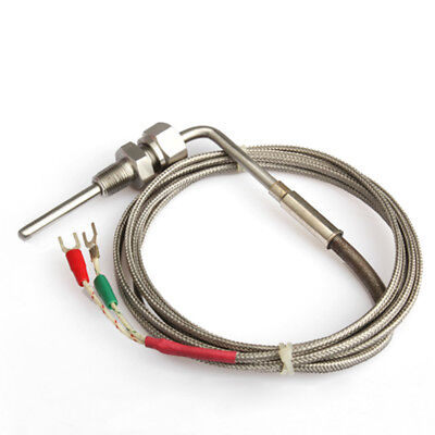 US!2M EGT K Type Thermocouple Exhaust Probe High Temperature Sensors Threads NEW