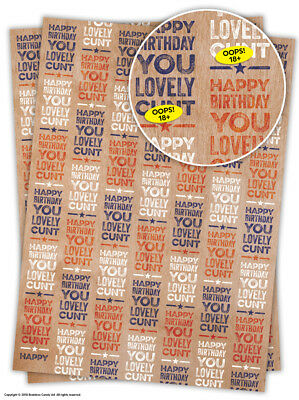 Rude Offensive Wrapping Paper Gift Wrap Adult Comedy Humour Funny Joke Novelty