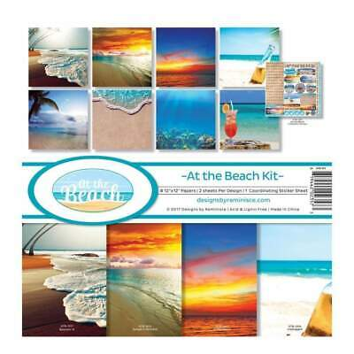 Reminisce Collection Kit 12 inchX12 inch At The Beach, 8 Papers & Stickers
