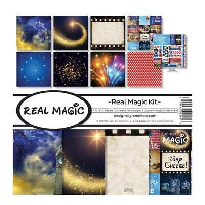 NEW Reminisce Collection Kit 12 inchX12 inch Real Magic, 8 Papers & Stickers
