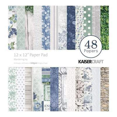 NEW Kaisercraft Paper Pad 12 inch X12 inch 48 pack - Wandering Ivy