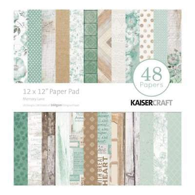 NEW Kaisercraft Paper Pad 12 inch X12 inch 48 pack - Memory Lane