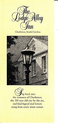 The Lodge Alley Inn Charleston SC South Carolina Vintage Brochure