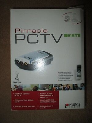 Pinnacle PCTV 50e; Externer TV-Tuner mit TVCenter-Software