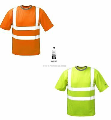 Warnschutz T-Shirt gelb oder orange Shirt Warn kurzarm Warnshirt SAFESTYLE® NEU
