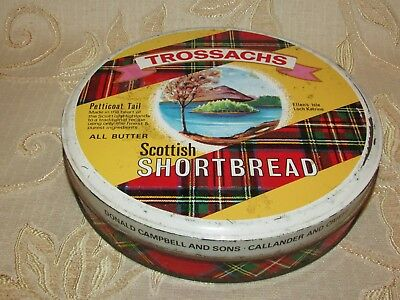 Vintage Trossachs Scottish Shortbread Tin