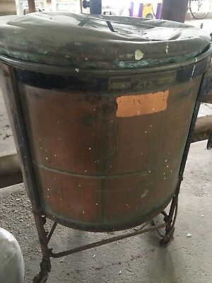 Vtg Antique Easy Vacuum Copper Chrome Brass Electric Washing Machine