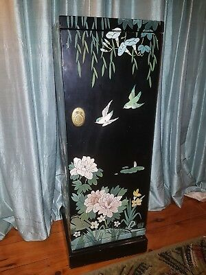 Asian Chinese antique style cupboard bedside table