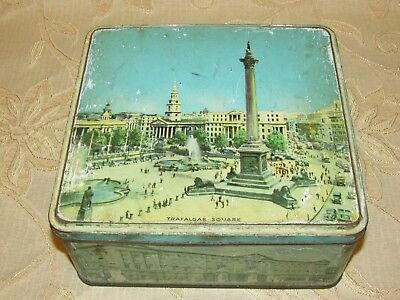 Large Vintage 'Trafalgar Square' By H.B. & S. Tin