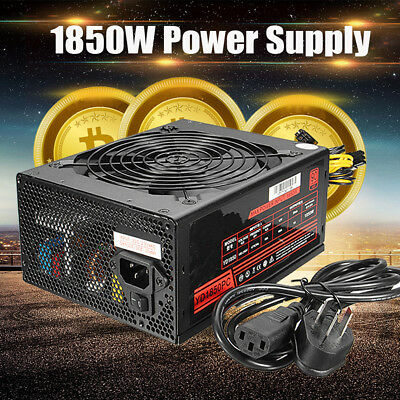 1850W 92 Mining Power Supply Modular For Rig Coin Antminer S7 S9 Bitcoin Miner
