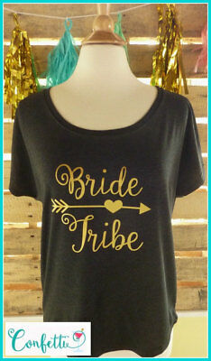 NEW size M Bride Tribe tshirt black and gold Bride tribe shirt tribe bridesmaid