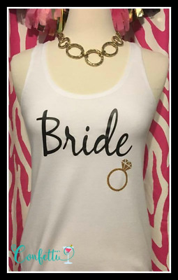 NEW size M misses white bride tank top bachelorette tank top bride to be gift