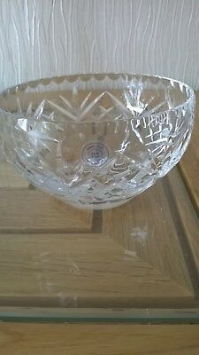 cut glass posy bowl with lid