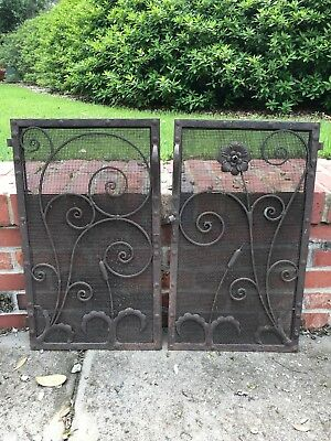 Antique Fireplace Doors Architectural Salvage Arts Crafts Style