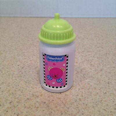 Fisher Price Little Mommy Doll Bottle with Green Top Replacement Baby Bottle