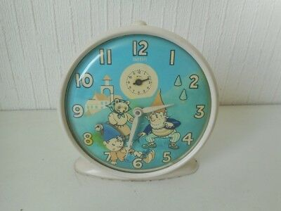 Vintage Smiths Noddy & Big Ears Alarm Clock