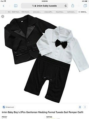 Nyan Cat Baby Toddle Boy's Formal Tuxedo Suit Romper Outfit 12-18 Months (EU 80)