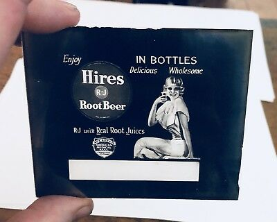 1930s-40s Hires Root Beer glass advertising slide