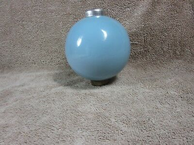 BLUE MILK GLASS Lightning Rod Ball Barn Garden Roof Patio Home Decor