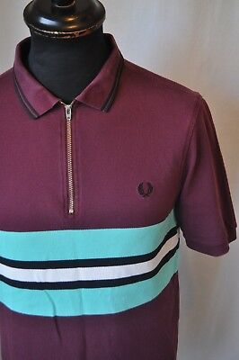 Fred Perry Bradley Wiggins special edition polo shirt in size medium mod casual