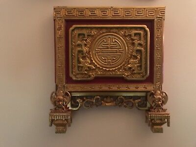 Antique Chinese Gold Leafed Carving