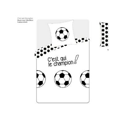 Housse de couette Football FOOT BALL CHAMPION 140 x 200 + 1 Taie  100%  Coton