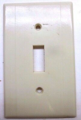 Vintage Leviton Switch Wall Plate Cover Beige Art Deco Bakelite 2 Vertical Lines