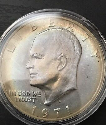 1971 D Clad Eisenhower IKE DOLLAR Toned!! Combined Shipping