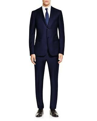 $2795 Z ZEGNA Mens Slim Fit Wool Suit Blue 2 PIECE JACKET PANTS US 38 R EU 48