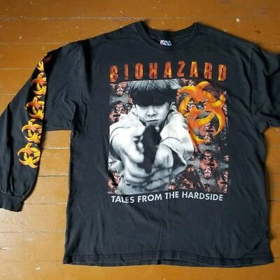 Vintage Biohazard TALES FROM THE HARD SIDE State Of The World Tour 1994 LS XL