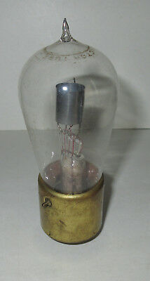 Very Early Brass Base Tipped Ken-Rad Detector Radio Vacuum Tube 200A or 201A