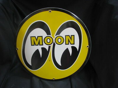 Moon Eyes Porcelain Sign