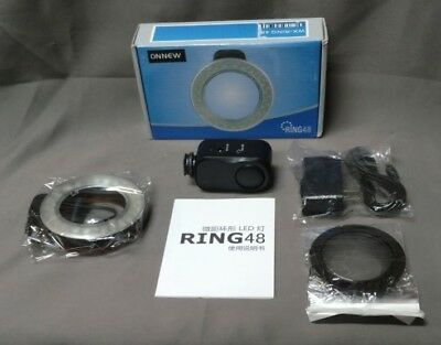 48 LED Macro Ring Light w/ 6 Adapter Rings (49,52,55,58, 62, and 67mm) (D636)