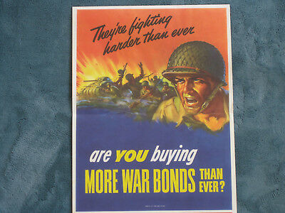 Original Wwii Posters Lot Of Seven, Various Artists, Some Rare