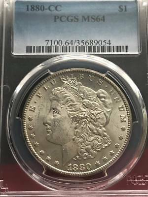 1880-CC $1 Morgan Silver Dollar PCGS MS64