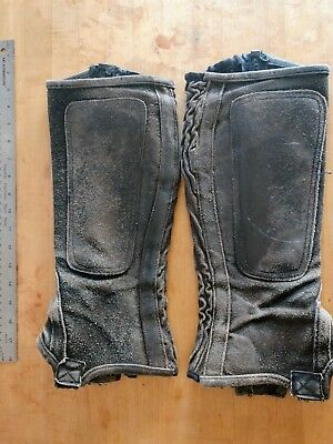 Leather Spats Gaiters Boot Covers Costume Wasteland Tank Girl Mad Max Equestrian