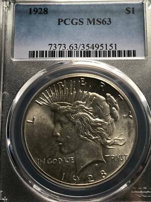 1928 $1 Peace Dollar PCGS MS63 KEY DATE