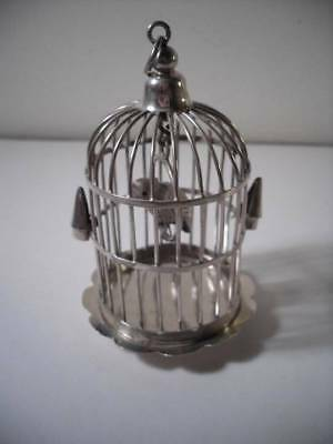 A Rare Antique Silver 'Caged Parrot' : Holland c1890