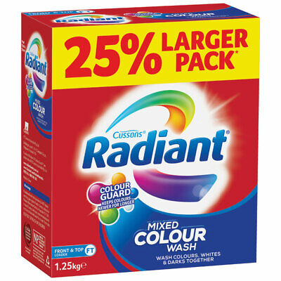 Radiant Laundry Powder Mixed Colour Wash 1.25kg