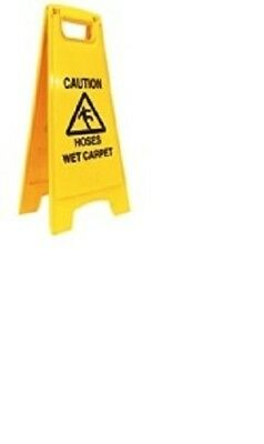 HOSES WET CARPET FLOOR SIGN - carpet cleaning pressure washing CHS