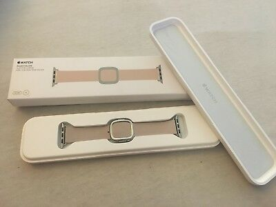 Open Box Apple  Watch Band -  38mm Soft Pink Modern Buckle -SMALL MJ572ZM/A